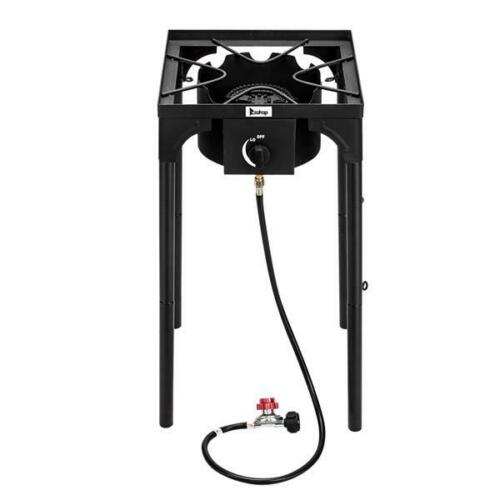 Outdoor Camp Stove High Pressure Propane Gas Cooker Portable Cast Iron Patio