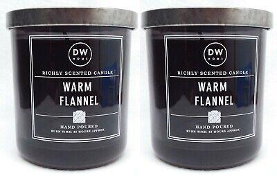1 DW Home WARM FLANNEL Medium Glass Jar 1-Wick Candle 9.1 oz BURNS 33 HRS