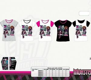 t-shirt-enfant-Monster-High-100-coton-Tee-shirt-fille-Monster-6-12-ans