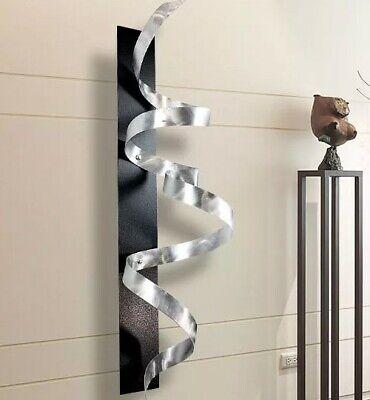 Ultra Modern 3d Metal Wall Art Sculpture Silver Black Decor Artist Jon Allen Ebay