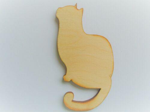 Formas De Gato Paquete De 3-3 mm Contrachapado de abedul arte Embellecimiento chatarra de reserva Artesanía