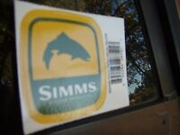 Simms Fishing Products Square Patch Trout Sticker