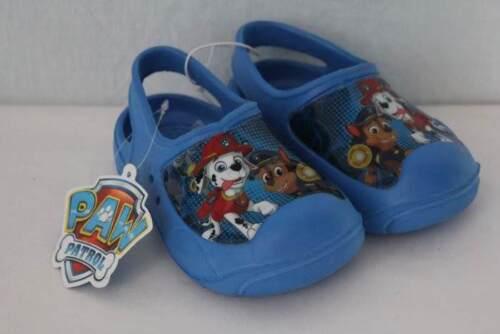 Nouveau Bébé Garçons Paw Patrol Water Shoes MEDIUM 7-8 Sandales Sabots feu Chien Flic