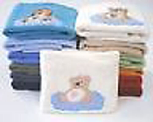 Kuscheldecke tolle Farben Motiv bestickt NEU Babydecke Fleece 75 x 100 cm