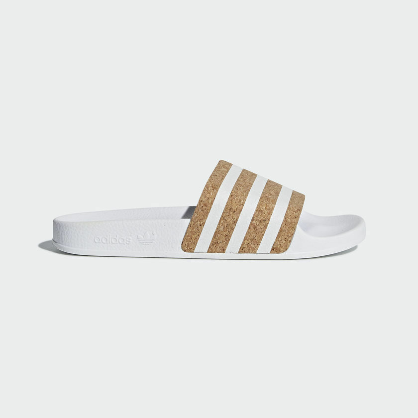 Adidas Slides Originals Women Adilette Cork Slides Adidas White Lifestyle Sandal New CQ2238 ffd5c8
