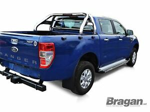 To Fit 2016 Ford Ranger 4x4 Stainless Steel Sport Roll Nerf Bar Rollbar Loop Ebay