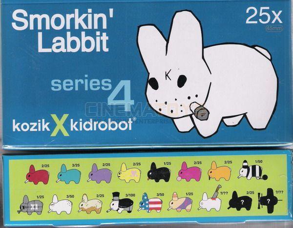 Frank Kozik Kozik Kozik for Kidrobot Smorkin Labbit Series 4 Complete Set of 25 SEALED RARE 498e25