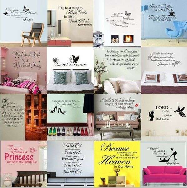 HOT Sale! DIY Removable Quote Wall stickers Decal Vinyl Art Home Room Decor