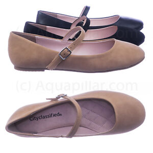 Hookup-Women-Comfortable-Padded-Mary-Jane-Round-Toe-Ballet-Ballarina-Flats