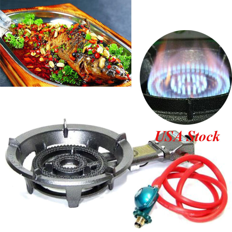 NEW  SINGLE GAS PROPANE BURNER STOVE OUTDOOR CAMP CAMPING TAILGATING BBQ COOK  online-shop