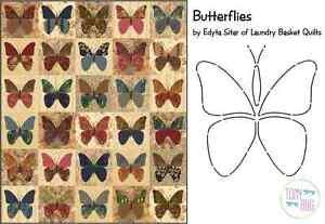 Butterflies Applique Quilt Pattern & Stencil ~ Edyta Sitar Laundry ... : butterfly applique quilt - Adamdwight.com