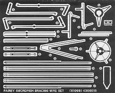 Tamiya 61069 Fairey Swordfish Photo Etched Bracing Wire 1//48 scale kit JAPAN