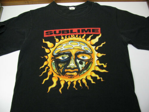 VTG SUBLIME T-SHIRT Sunshine Sun Face Punk Band 2006 Music Black Anvil Small