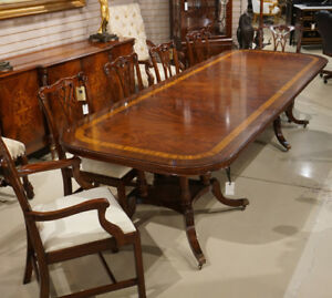 Image Is Loading Beautiful 10 039 Traditional Flamed Mahogany 2 Pedestal