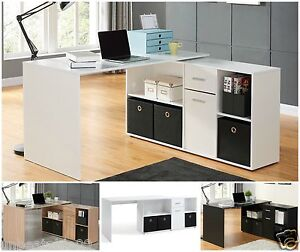 Image Is Loading New Adjule Computer Desk Corner Laptop Pc Work