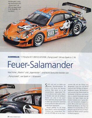 ' 11 Porsche 911 (997-2) Gt3 Rsr In 1-18 Di Spark... Un Modello Relazione #2012-mostra Il Titolo Originale