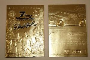 DALE EARNHARDT 2001 23KT Gold Card Sculptured *7-TIME CHAMPION* Serial #'d NM-MT