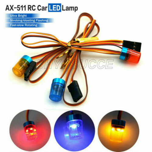 5 Modes 360 Degree Rotation Police Night Flash Bright LED Light For 1//10 RC Car