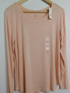 NWT-Gap-Women-039-s-Luxe-Long-Sleeve-Pink-Top-S-M-XXL-MSRP-30-New-Free-Shipping