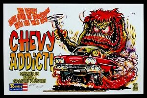 Details About Ed Big Daddy Roth Chevy Monster Addict Art Poster Signed By Johnny Ace Kali