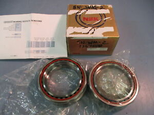 Matched Pair NSK Super Precision Angular Contact Spindle Bearings 7013CTYNDBLP4