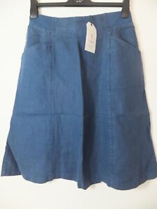 New Women's Seasalt Castle Garden Harbour Linen Blend Skirt Size 10 - 20RRP £58