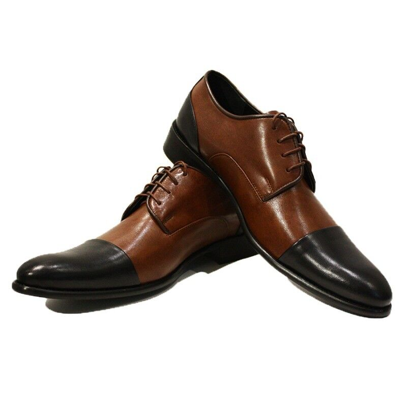 Zapatos de vestir Modello Graziano-hecho a mano cuero italiano Coloridos Oxford Marrón