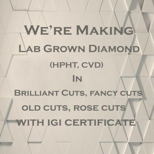 CVD//HPHT Diamond Oval Diamond VS//SI-EF Lab Grown Diamond 4.10*2.90-6.30*4.50MM