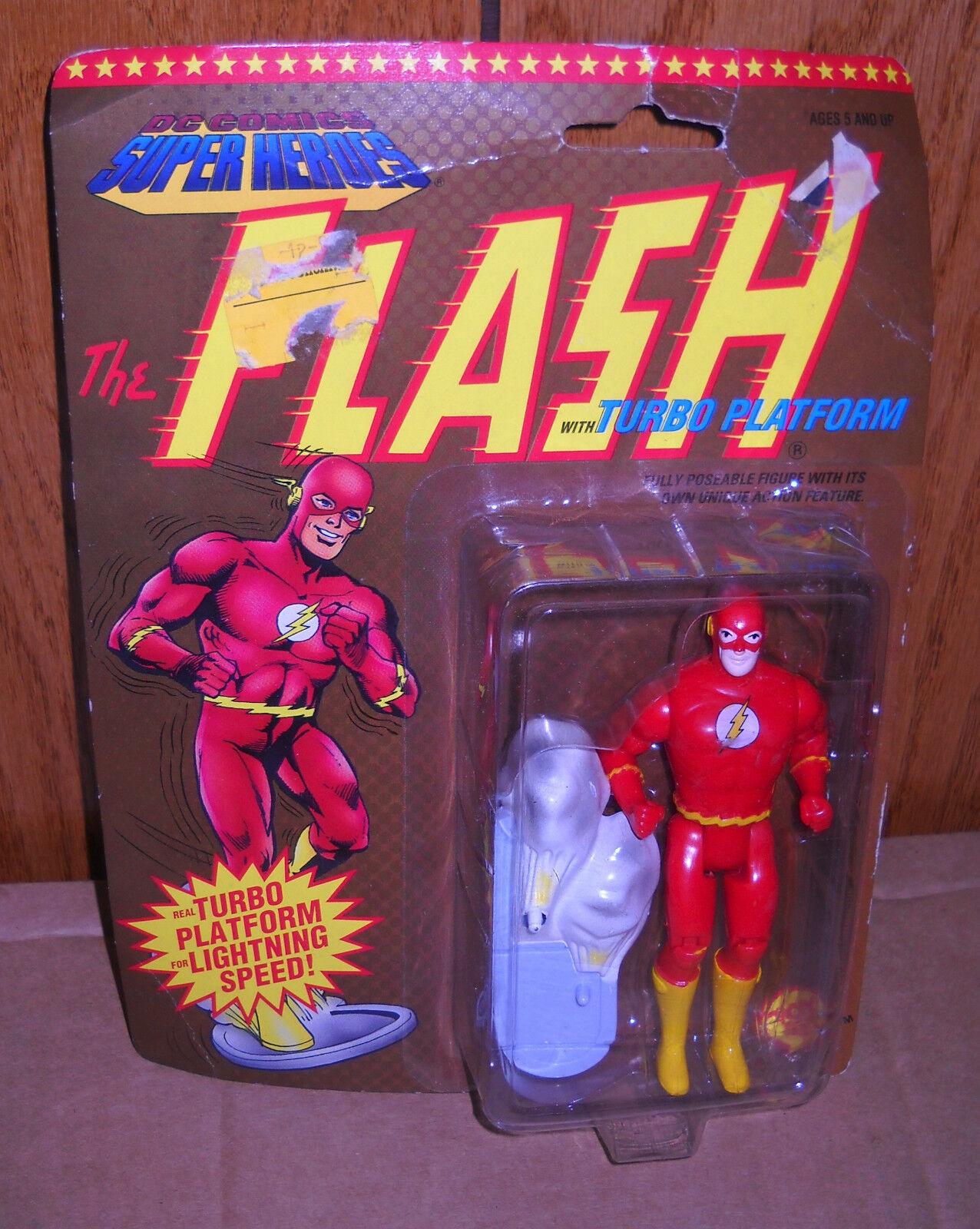 NRFC Toy Biz DC Superheroes The Flash w Turbo Platform Figure