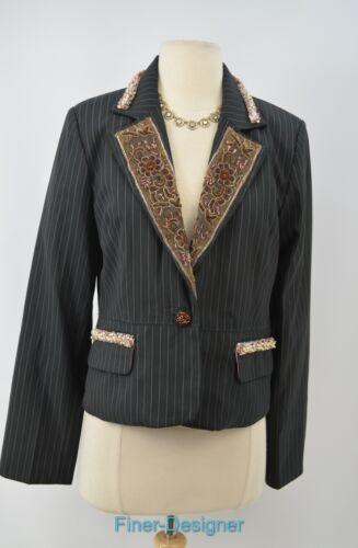 True Jacket Bead Shabby Nuovo Sz Button Button Light Chic Blazer Steampunk 8 Meaning rrWnqaU