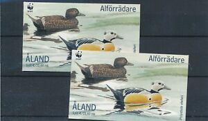 [22151] Aland 2001 ducks 2x good complete booklet very fine MNH