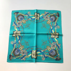 100-Silk-Small-Scarf-Women-Fashion-Rope-Print-Turquoise-Neck-Hair-Scarves-53cm