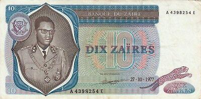2019 Nieuwste Ontwerp Billet Banque Banknote Zaire Congo 10 Zaire 27-10-1977 Mobutu état Voir Scan 254