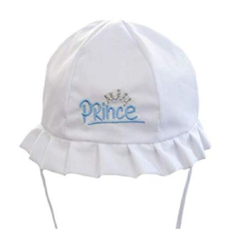 Bébé Garçons Traditionnel Chapeau de soleil 0 6 12 24 mois Prince Summer Bonnet chinstrap