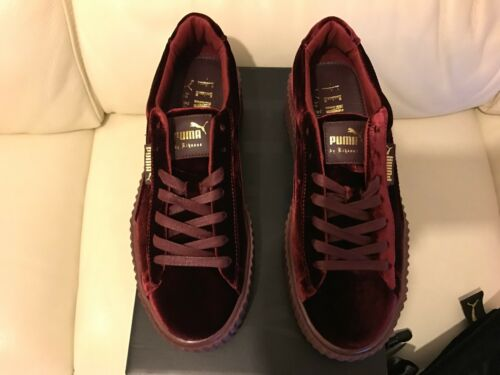 4 Puma 7 6 Velvet 8 All Rihanna 3 Trainers Burgundy Sizes 5 Fenty Red Creepers SrqwvxS7