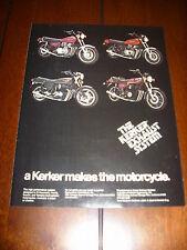 1978 KAWASAKI KZ 1000 HONDA 750 SUZUKI  YAMAHA KERKER EXHAUST - ORIGINAL AD