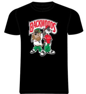 Bugs Bunny /& Taz x Looney Toons Kris Kross Classic T-Shirt Black BACKWOODS