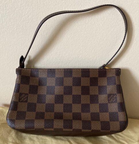 LOUIS VUITTON Damier  Hand Bag Pouch LV Navona