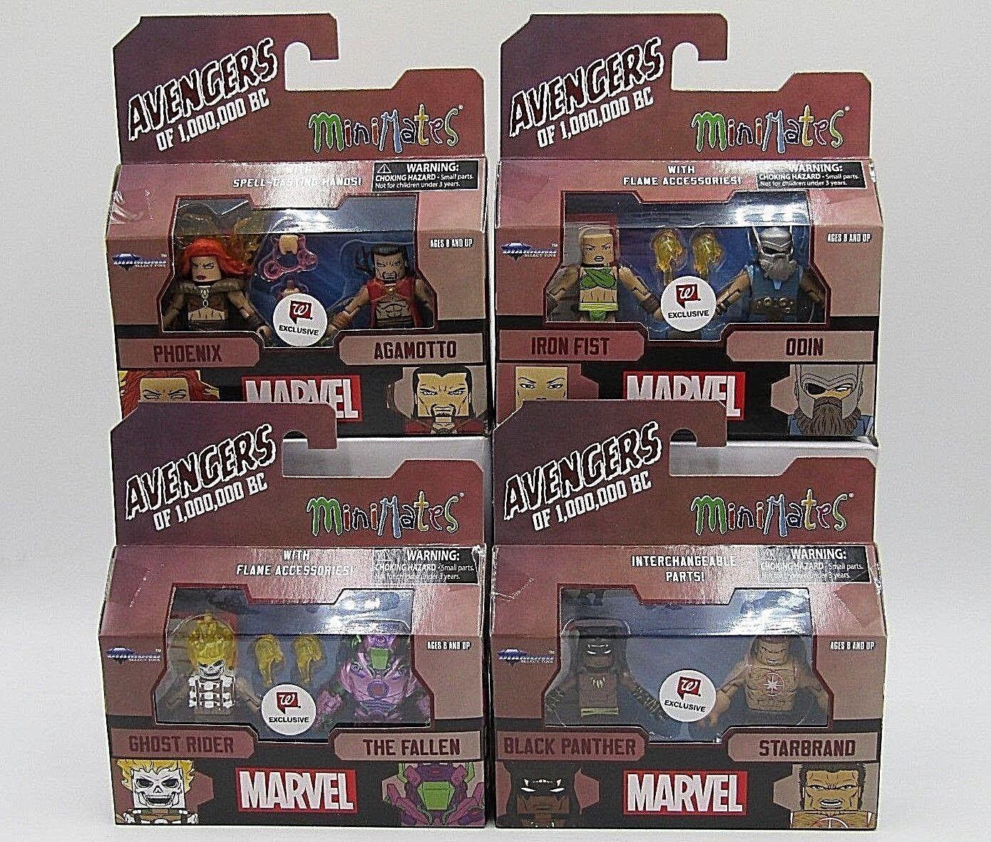 Avengers of 1,000,000 BC Minimates WalGrüns Exclusive Complete Set