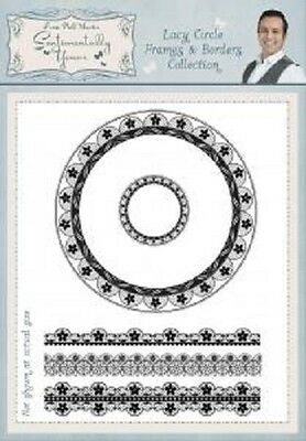 PHIL MARTIN Sentimentally Yours LACY CIRCLE FRAMES & BORDERS A5 Clear Stamps