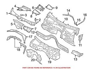 For-BMW-Genuine-Cowl-Grille-Panel-Right-64319295461