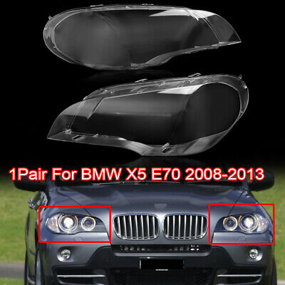 Left Headlight Clear Plastic Lens Shell Cover Lampshade For BMW 2007-2013 X5 E70 Auto Parts & Accessories CAR Headlight Lamp