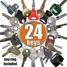 24 Keys Heavy Equipment Key Set Construction Key Set Fits Over 500 Machines