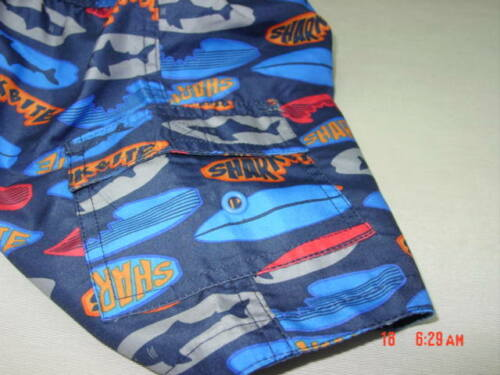 NWT Toddler Boys Op Shark Bite Swim Suit Trunks New Beach Water Wear Fun Bottom