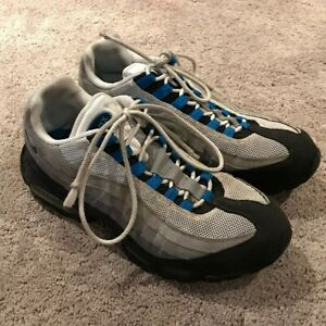 Details about Nike Air Max 95 Sz 10 Grey Blue Spark Royal 2011 609048 104