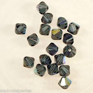 20 Perles Toupies En Cristal De Swarovski 5301 Montana Ab 5 Mm Des Friandises AiméEs De Tous