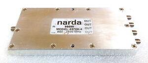 Narda 4372A-4 800 to 2500 MHz,30 W, 18 db Isolation, SMA (F) 4 Way Power Divider