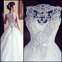 2017 New White/Ivory Wedding Dress Bridal Gown Custom Size:6/8/10/12/14/16/18/20