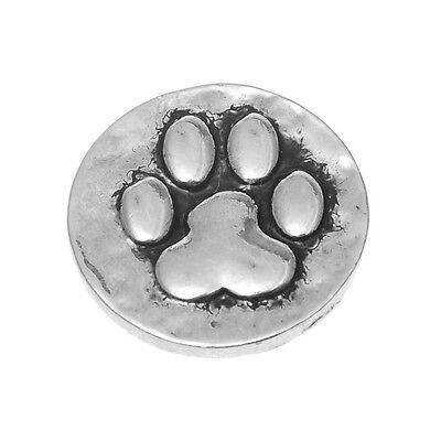 5 Druckknopf 5.5mm Click Buttons Hundpfote Antik Silber