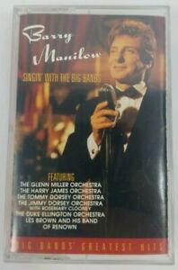 BARRY MANILOW Singin With the Big Bands Audio Cassette (1994 Arista Records)